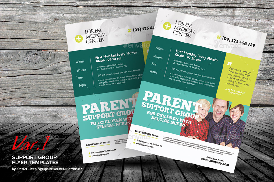 Support Group Flyer Template from s3.envato.com