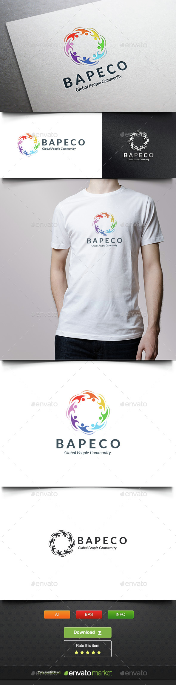 Global People Color Group - Humans Logo Templates