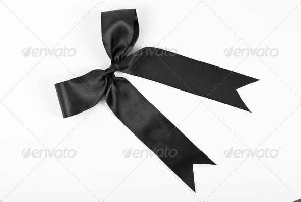 Black bow - Stock Photo - Images
