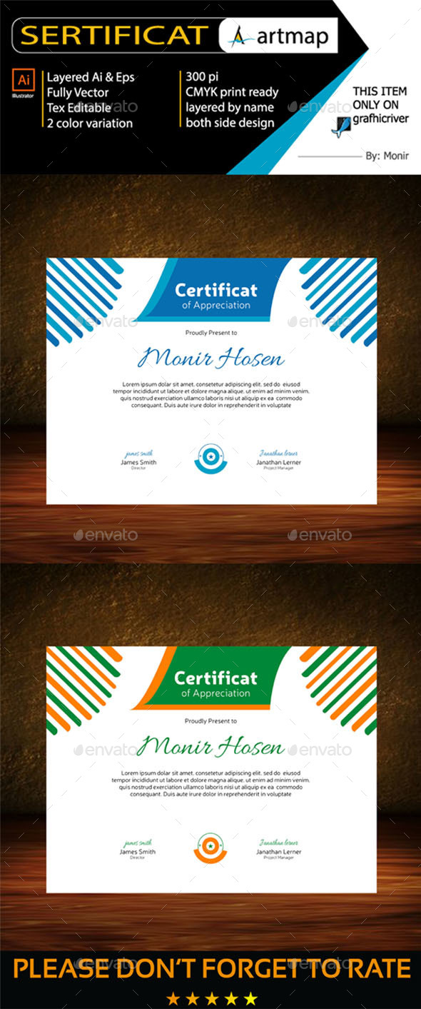 Certificat - Certificates Stationery
