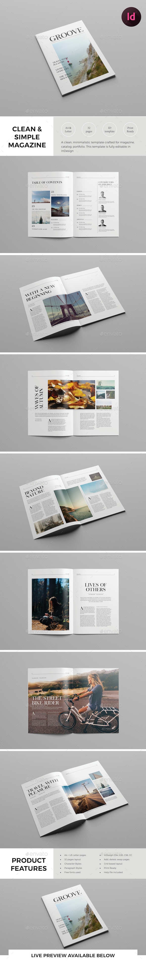 Clean Lifestyle Magazine Template - Magazines Print Templates