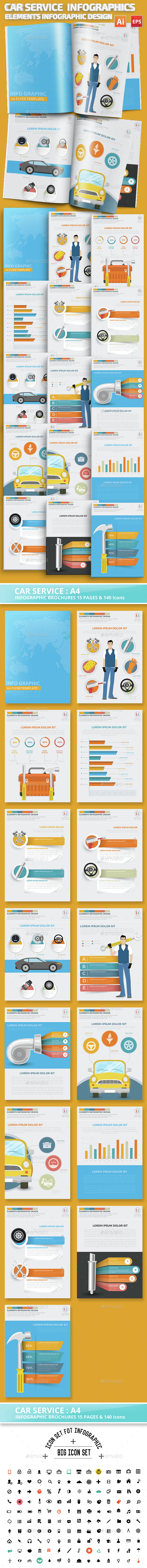 Car Service Infographics Design - Infographics