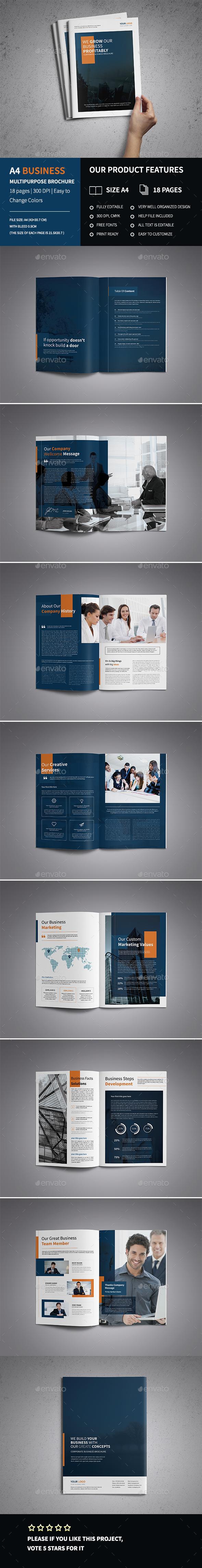 A4 Corporate Business Brochure Template  - Corporate Brochures