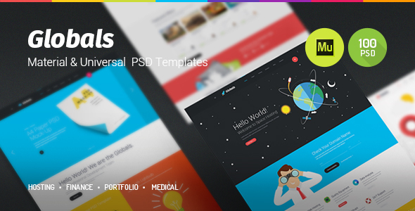 Globals – Material & Universal Muse Template