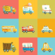 Colorful Set of Cartoon Cars - GraphicRiver Item for Sale