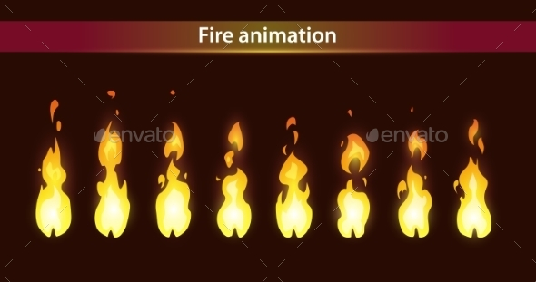 Fire Animation Sprite - Web Technology