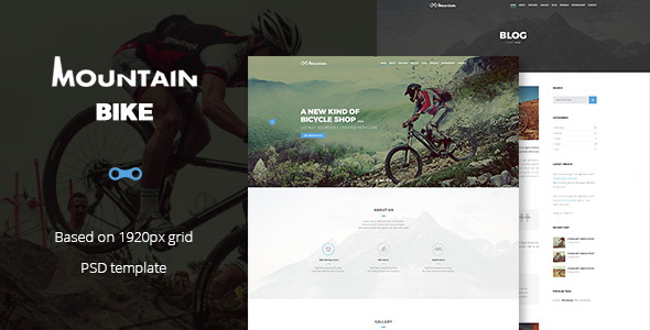 Mountain Bike - Extreme Sport Club Template - Retail PSD Templates