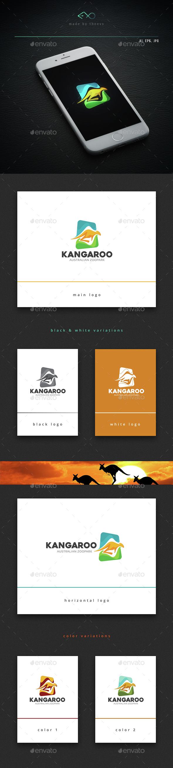 Kangaroo - Animals Logo Templates