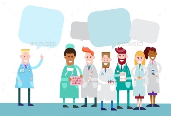 Medical Doctors Team Work with Copy Space - Health/Medicine Conceptual