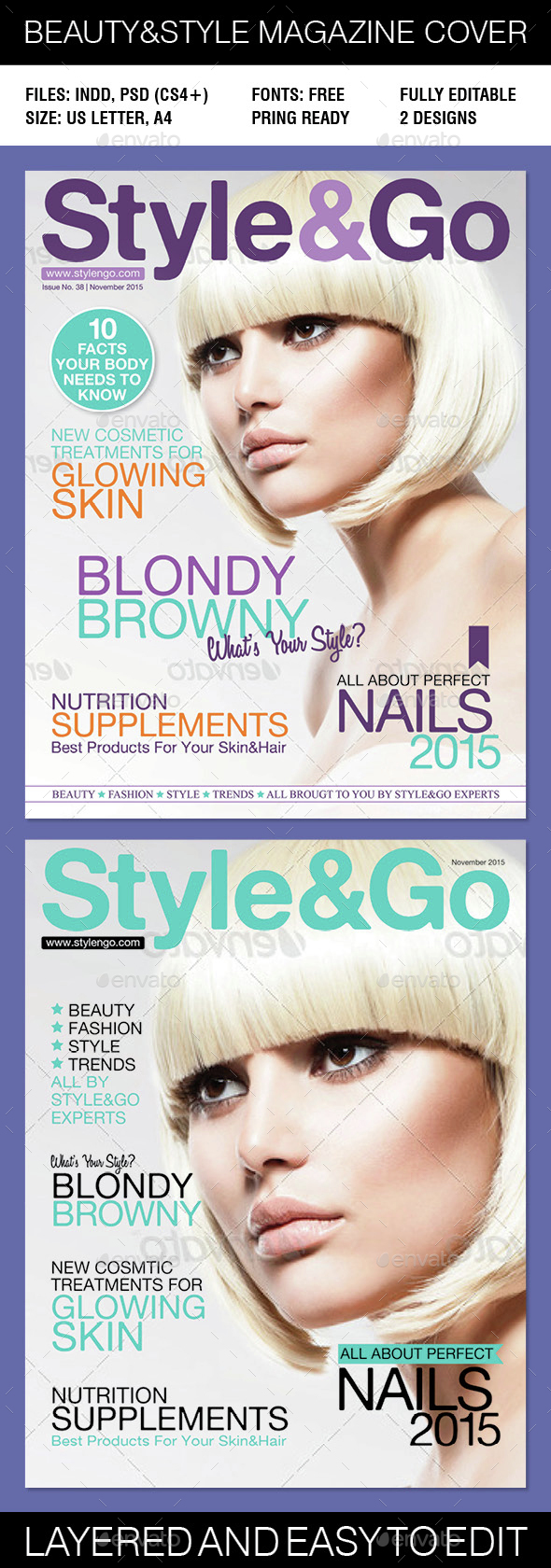 Beauty & Style magazine cover - Magazines Print Templates