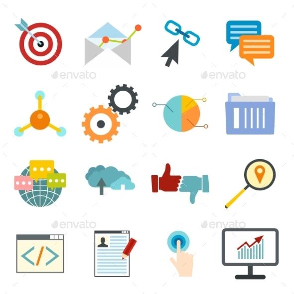 Seo Web Flat Icon - Miscellaneous Icons