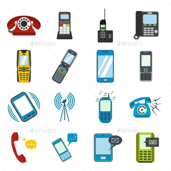 Phone Flat Icons - Miscellaneous Icons