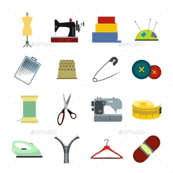 Sewing Flat Icon - Miscellaneous Icons