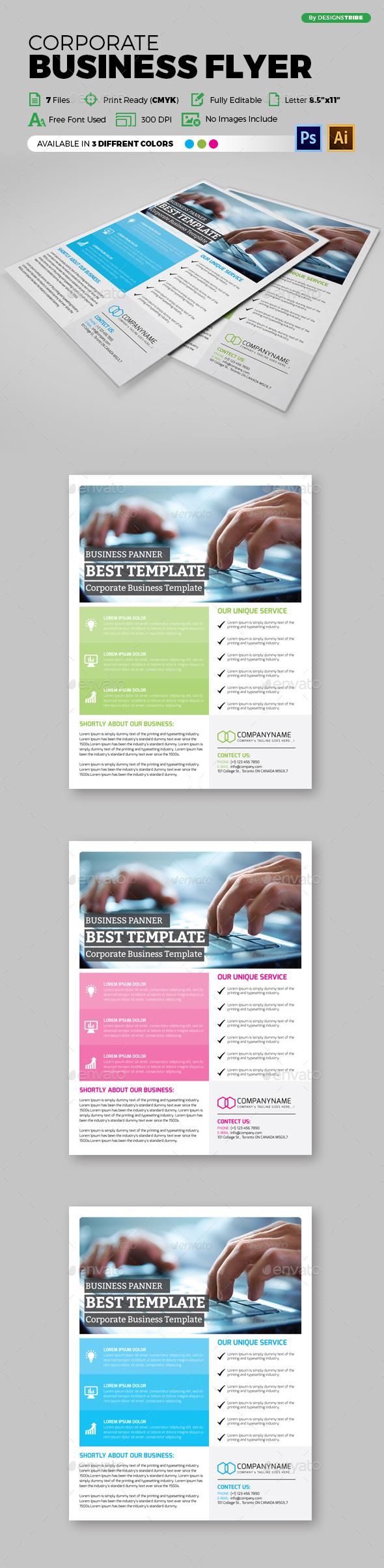 Flyer – Multipurpose 129 - Flyers Print Templates