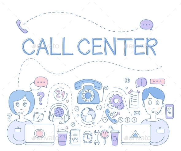 Support Call Center - Computers Technology