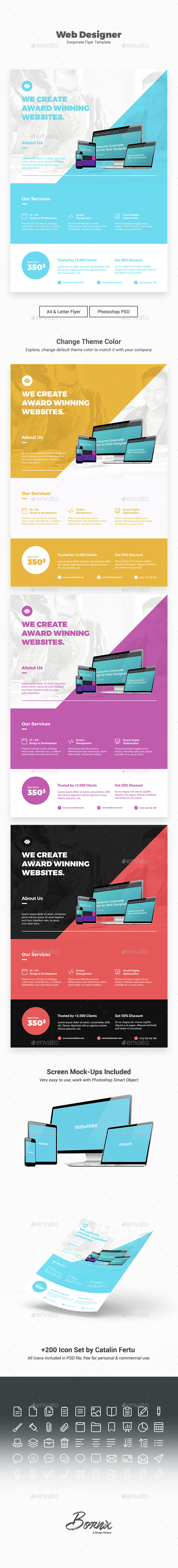 Web Designer Flyer Template - Corporate Flyers