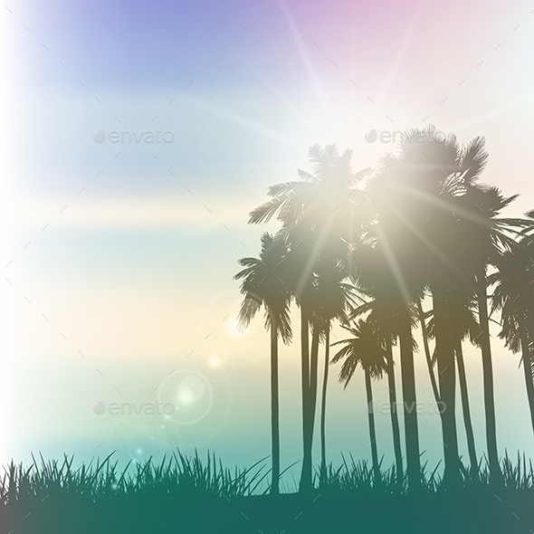 Retro Palm Trees - Landscapes Nature
