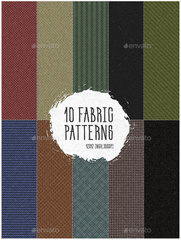 10 Fabric Patterns Pack 1 - Patterns Backgrounds