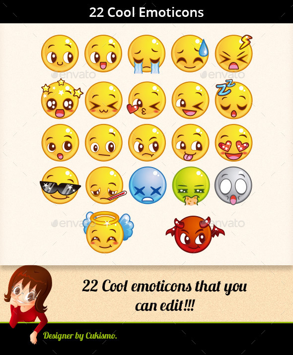 22 Cool Emoticons - Miscellaneous Characters