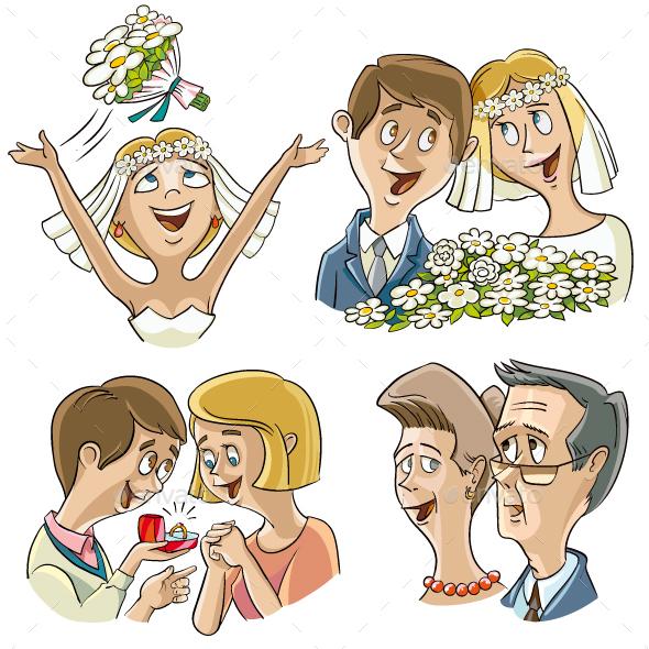 Wedding Theme - People Characters