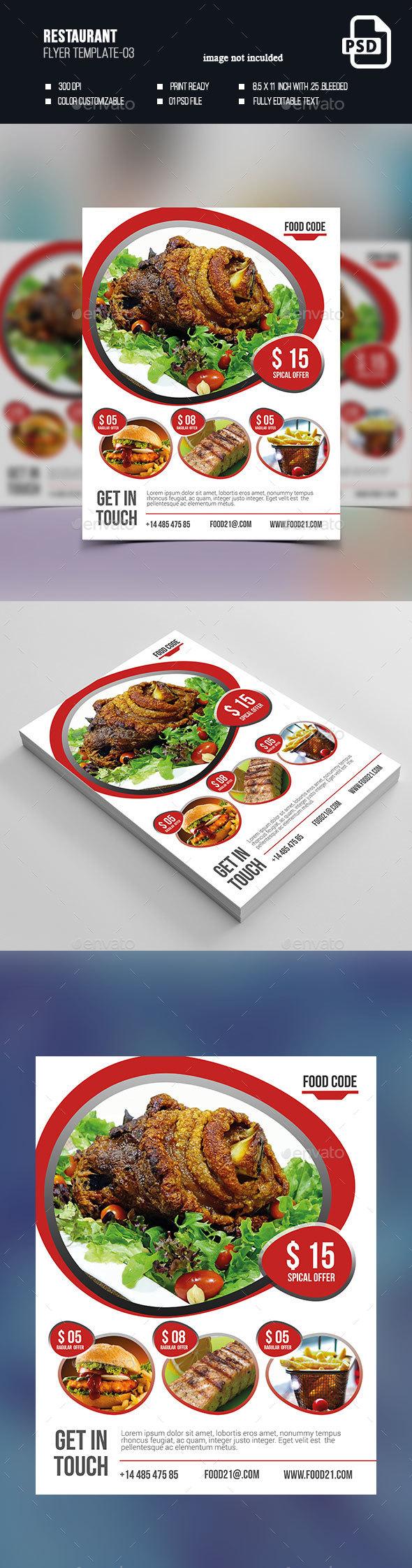 Restaurant Flyer-03 - Flyers Print Templates