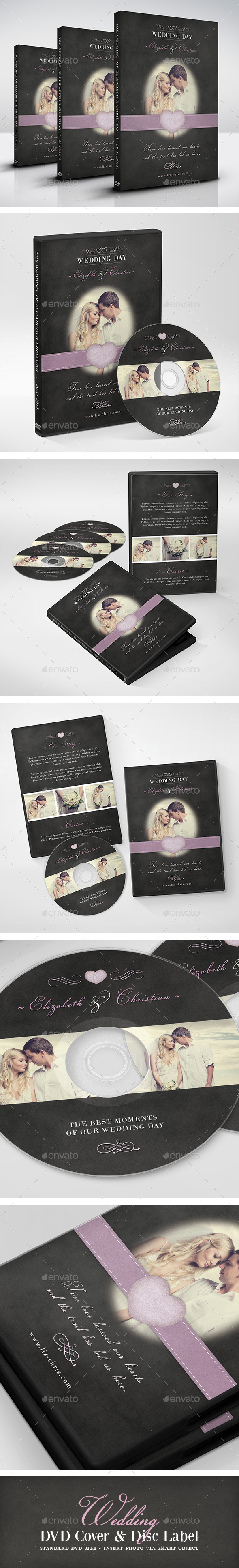 Vintage Wedding DVD Cover - CD & DVD Artwork Print Templates