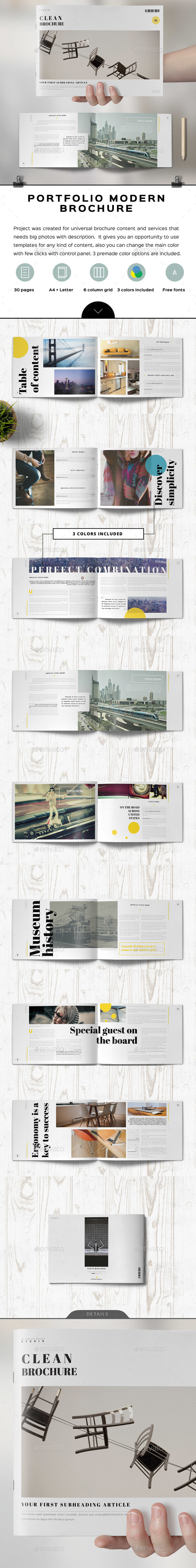 Clean Minimal Elegant Landscape Brochure - Informational Brochures