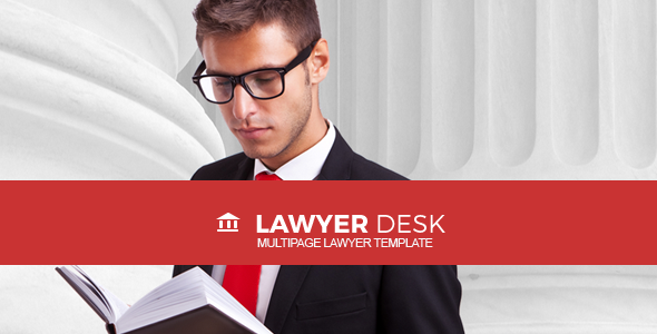 LawyerDesk – Multipage Lawyer and Attorney Responsive Template