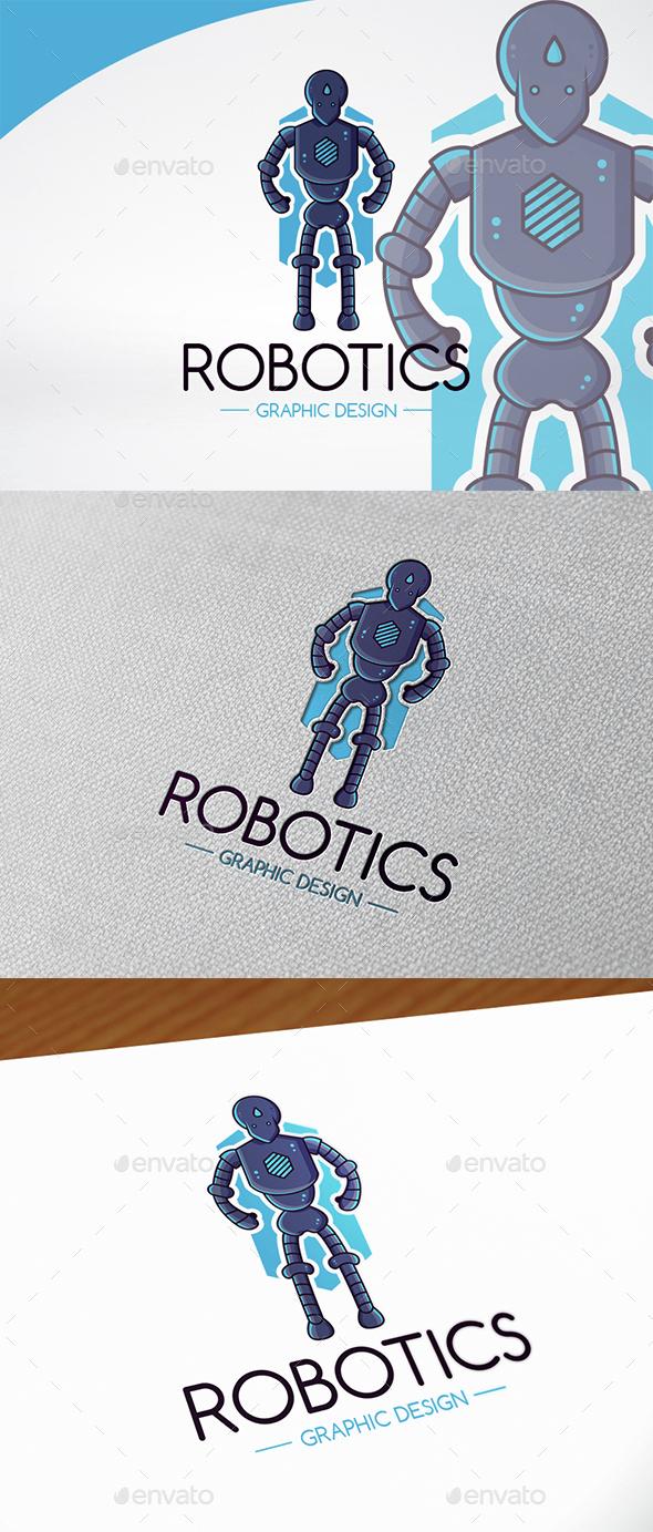 Robot Mascot Logo Template - Objects Logo Templates