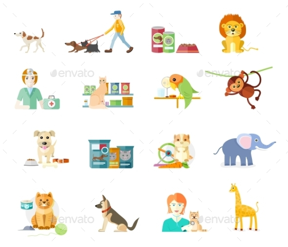 Set of Home Pets - Animals Characters