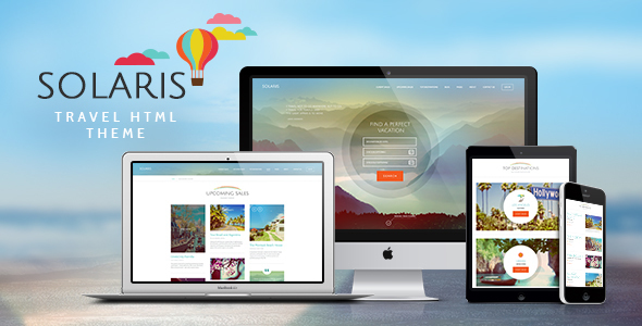 Solaris | Travel Agency Site Template - Travel Retail