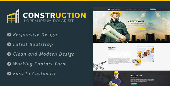 Construction – Bootstrap Landing Page