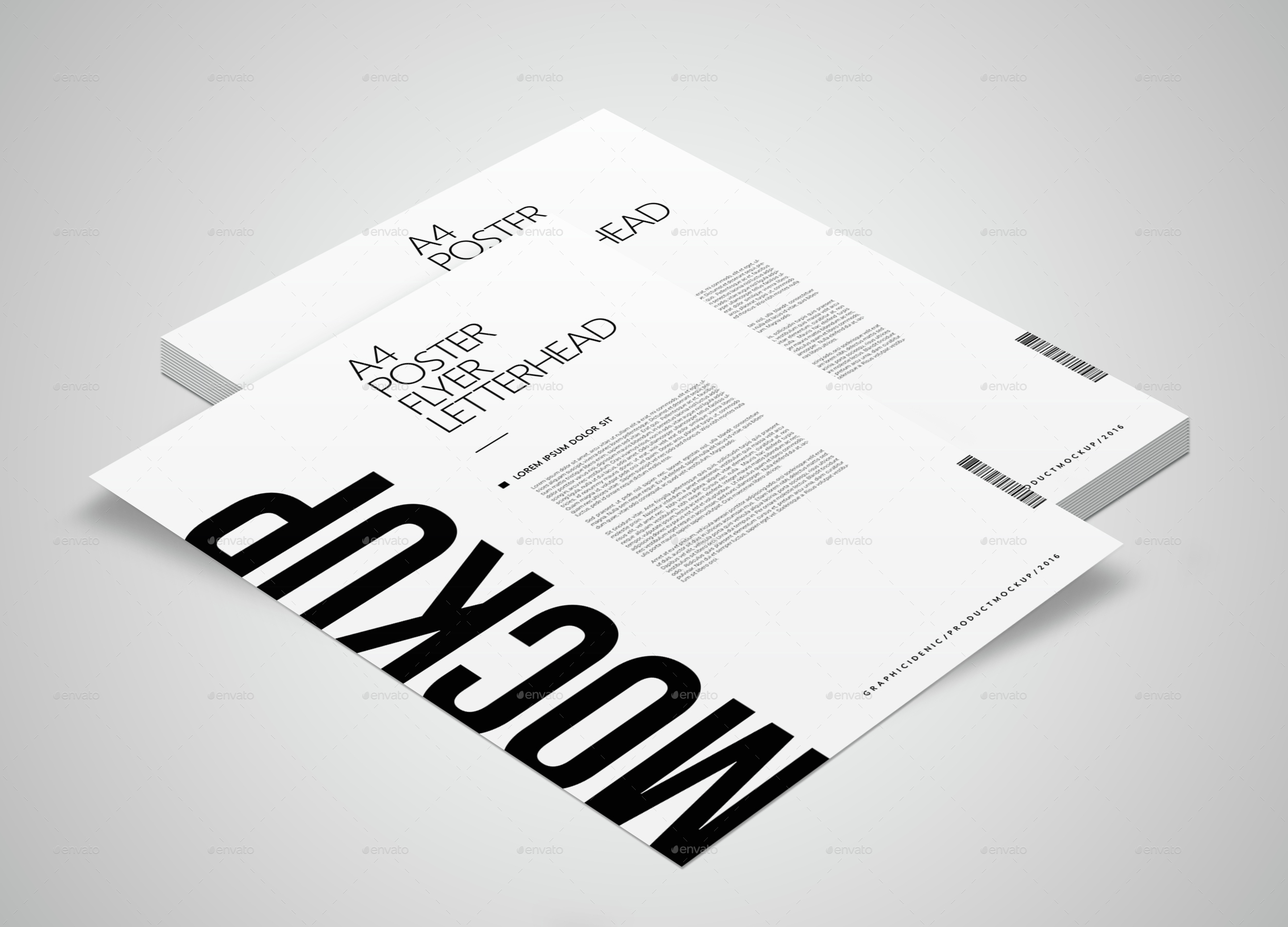 A4 / Poster / Flyer / Letterhead Mockup