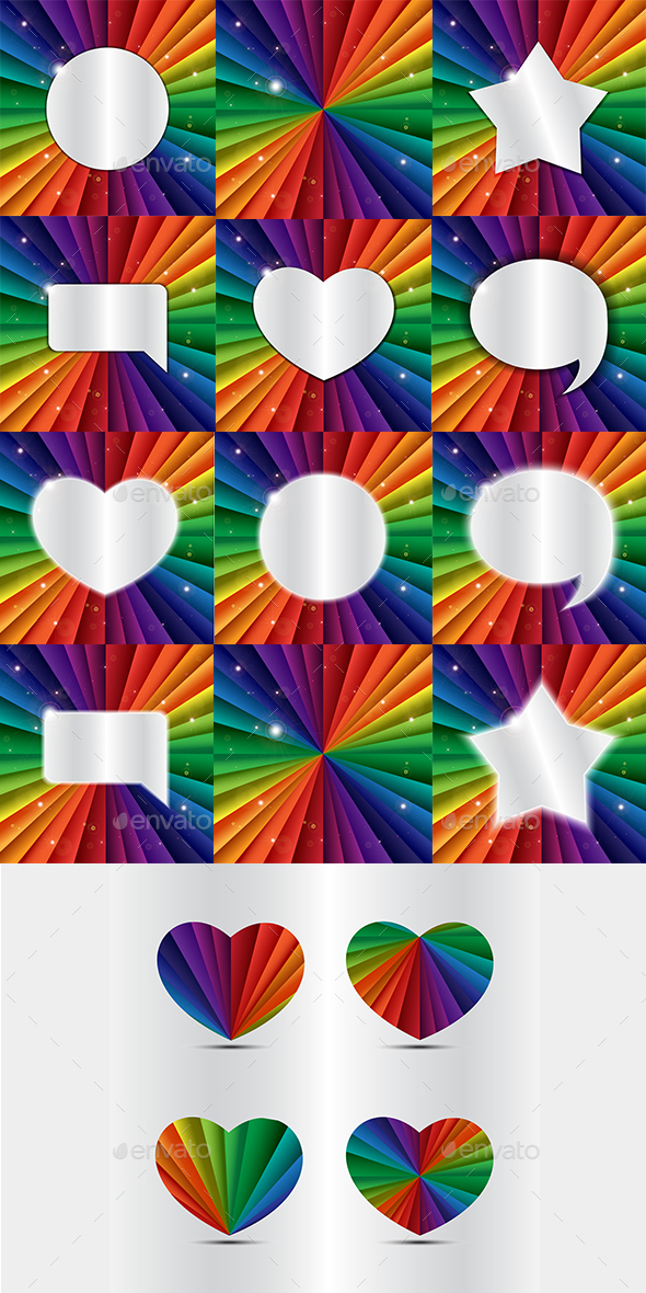 Rainbow Banners - Abstract Conceptual