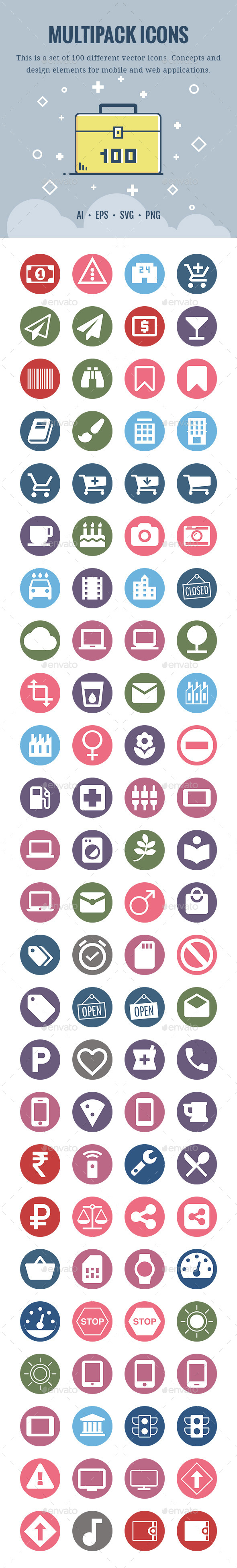 Multipack 100 Icons - Miscellaneous Icons