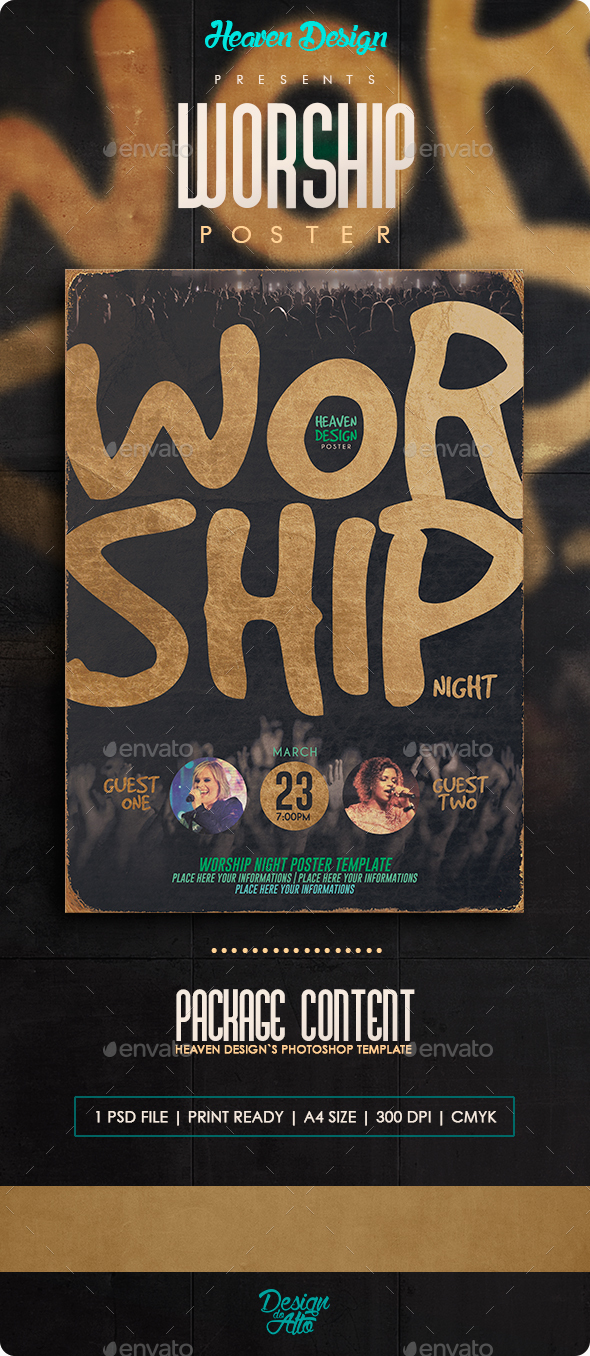 Worship Night | Poster - Events Flyers