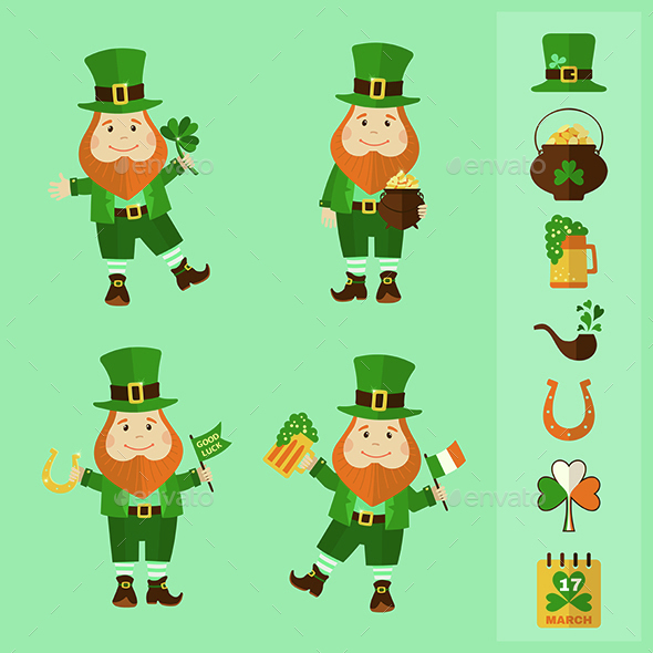 Saint Patrick's Day Set - Miscellaneous Characters