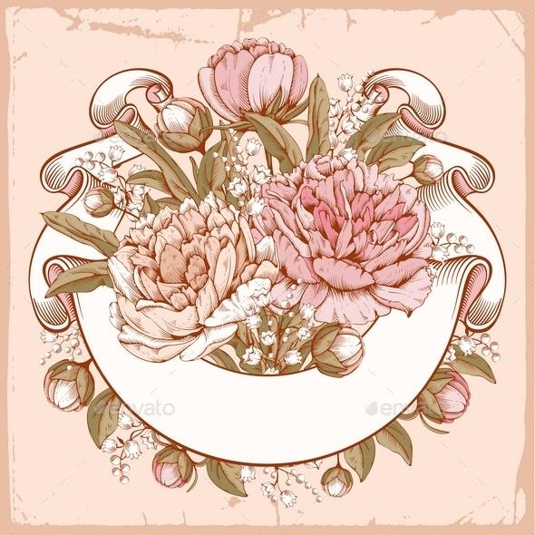 Luxurious Peony - Flourishes / Swirls Decorative
