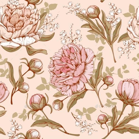 Luxury Peonies - Flourishes / Swirls Decorative