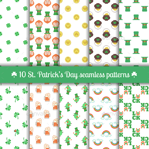 Seamless Patterns for Saint Patrick's Day Design - Patterns Decorative