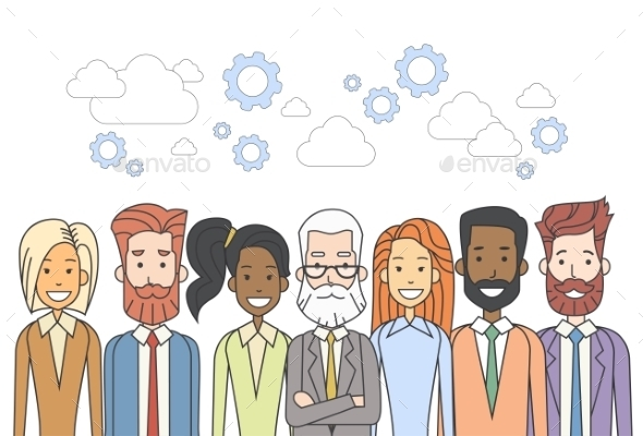 Business People Group Human Resources Teamwork - People Characters