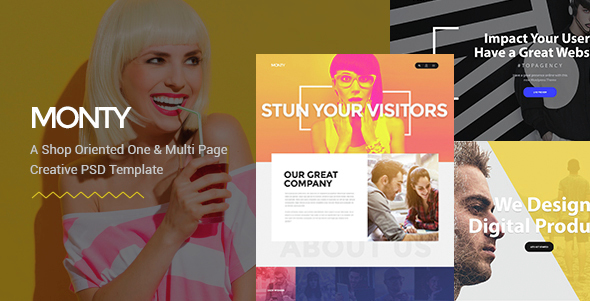 Monty - One & Multi Page PSD Template
