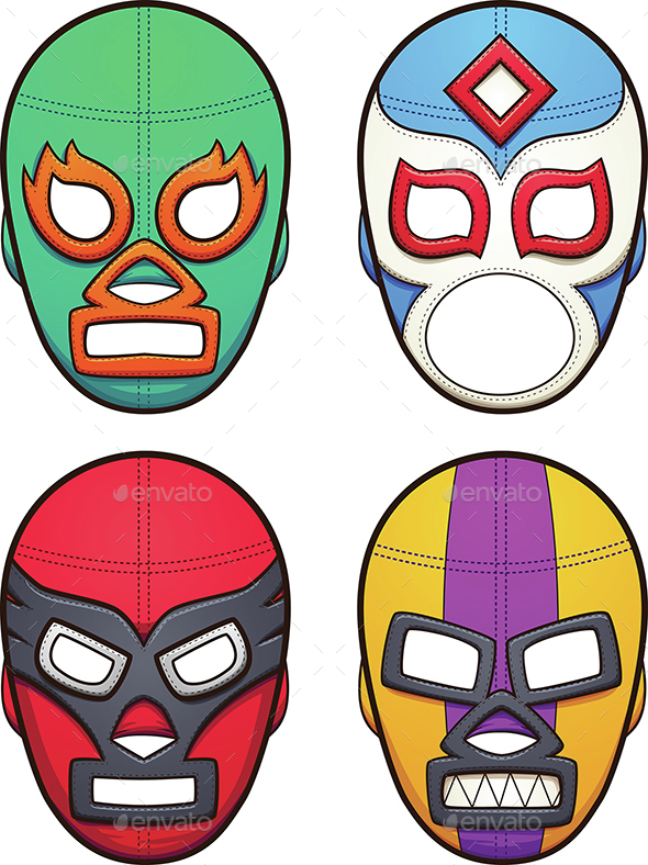 Wrestling Masks - Sports/Activity Conceptual