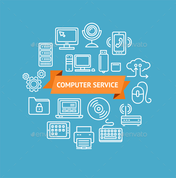 Computer Service Concept - Services Commercial / Shopping