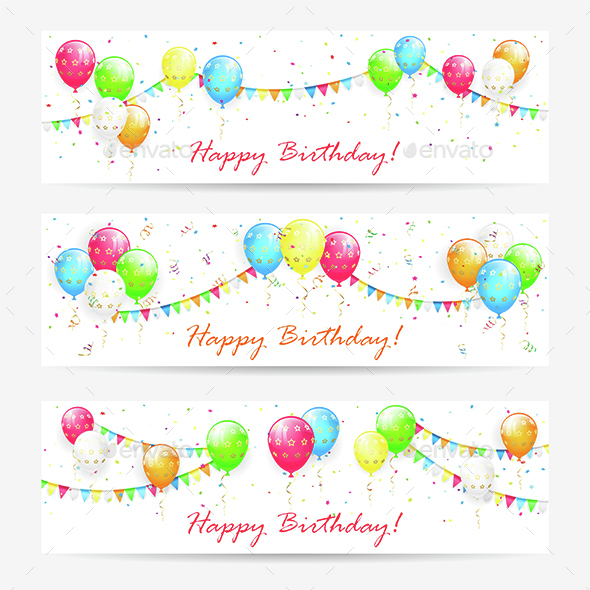 Birthday Cards with Balloons - Birthdays Seasons/Holidays