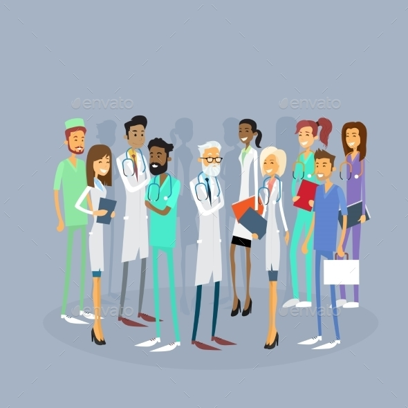 Group of Medical Doctors - Health/Medicine Conceptual