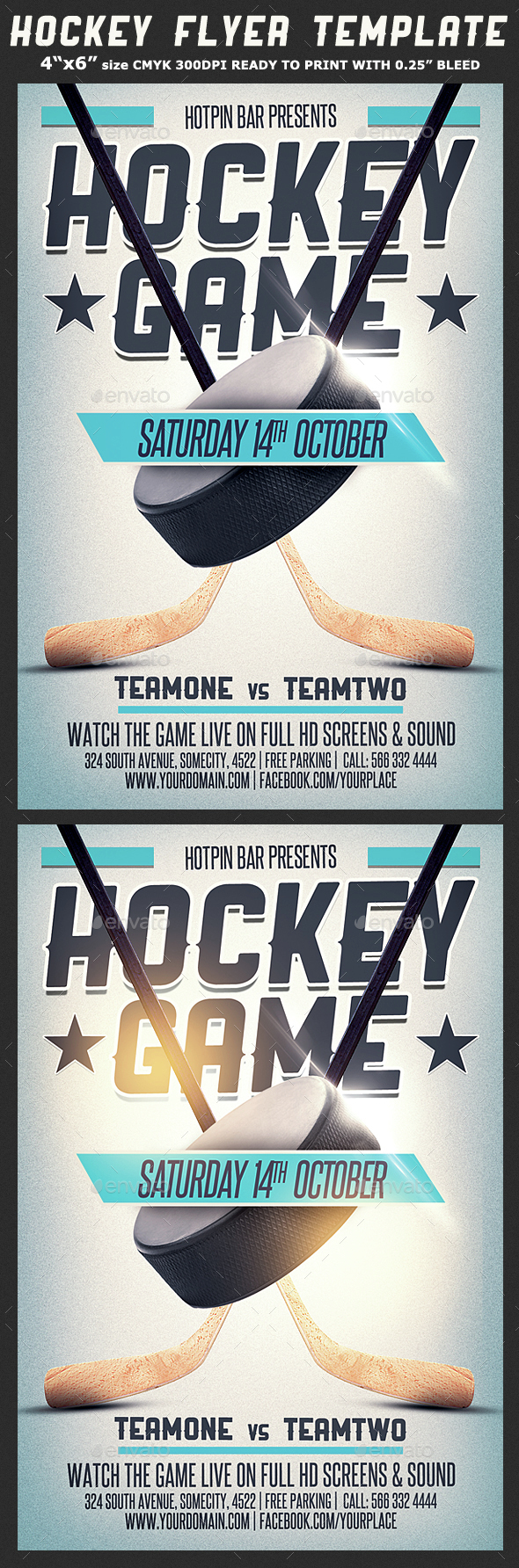 Hockey Game Flyer Template 2 - Sports Events