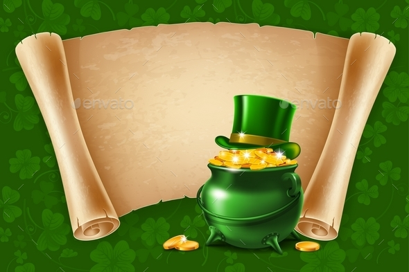 Saint Patricks Day Poster Design - Miscellaneous Seasons/Holidays