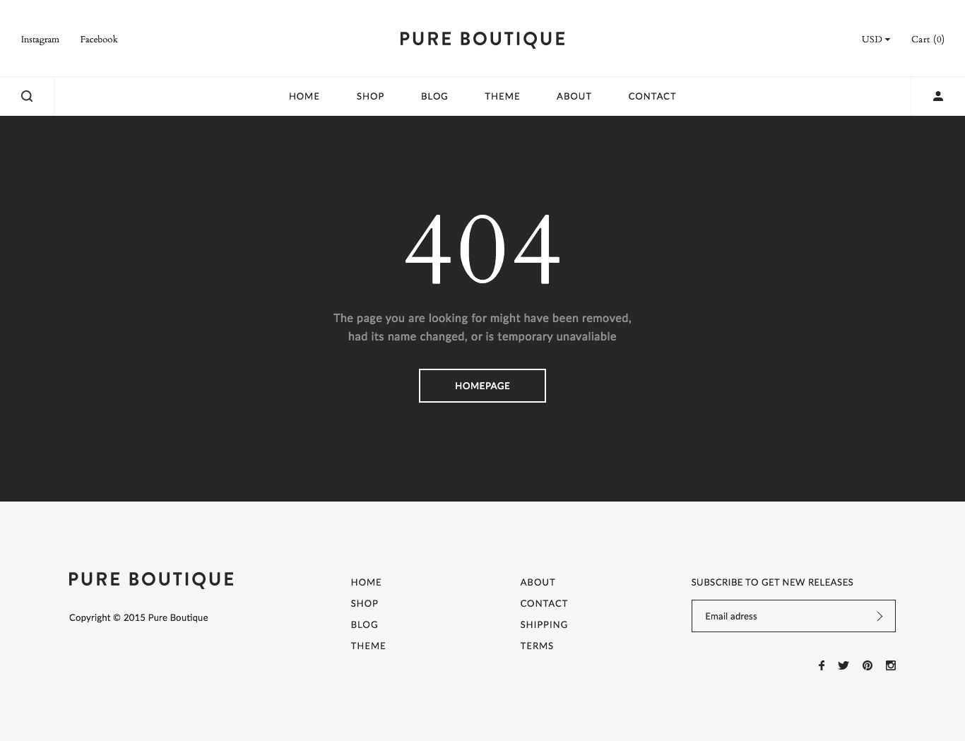 Pure - Accessories WooCommerce PSD Template by HighSea | ThemeForest