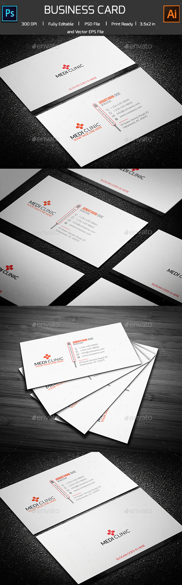 Medical/Thermal Business card - Corporate Business Cards